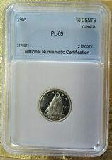 1965 Canada 10 Cents Uncirculated High Grade Dime