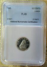 1965 Canada 10 Cents Silver Uncirculated High Grade Dime