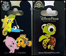 Disney Parks 3 Pin Lot FINDING NEMO and friends + Squirt Turtle