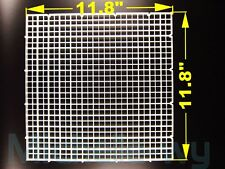 "11.8""x11.8"" aquarium grid divider freedom assembly isolate filter bottom white"