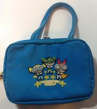 "Powerpuff Girls Clutch Blue Small 6"" x 4"" Cartoon Network Purse Power Puff Sun"