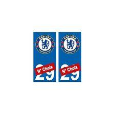Chelsea FC foot numéro choix autocollant plaque sticker arrondis