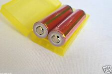 2pcs  Sanyo 18650 3400mAh Protected Rechargeable 3.7V Battery with PCB + Case