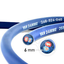 Van Damme Blue Series Studio 2x6mm Twin Axial Speaker Cable 5m - Unterminated