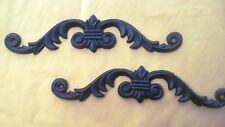 TWO Beautiful Cast Iron Scroll Wall Decoration.Elegant statement in any ROOM