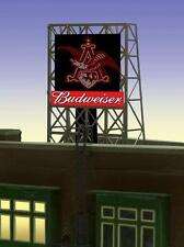 "BUDWEISER EAGLE ROOF TOP SIGN by MILLER ENGINERING -N/ Z SCALE- 0.9"" W X 0.85"" T"