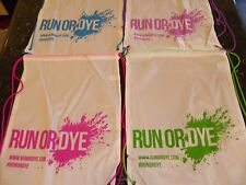 20 Color Run or Dye Drawstring Backpack Bags Large School Sport String Promo LOT