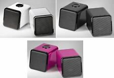 Cabstone™ 1 Pair USB 2.0 Stereo Speakers System in Cube Design black pink