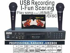 MIDI Karaoke Player Machine DVD/DviX/CDG 2Mics karaoke system with songs Xmas