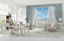 Mural de Pared Foto Wallpaper Malibu Vacaciones Mar Playa 368x254cm Decoración Habitación de Vista