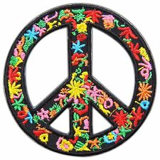 Peace Love Hippie Boho Flower Power Colorful Earth World Iron-On Patches #0824