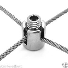 Stainless Steel 316 Marine Grade to suit 4mm to 6mm Wire Rope Trellis Cross Clip