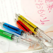 New 4Pcs Doctor Nurse Gift Liquid Syringe Injection Ballpoint Pen Ballpen Hot CN