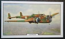 Handley Page HAMPDEN   RAF Medium Bomber  Vintage Card # VGC