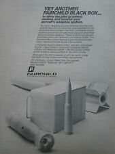 10/1981 PUB FAIRCHILD SPACE ELECTRONICS AIRCRAFT WEAPON SYSTEM  BLACK BOX AD