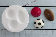 Silicone Mould, Sports Balls Cricket, Football,Rugby, Soccer M064