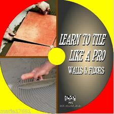 WALL & FLOOR TILING INSTRUCTION DVD CUTTING FITTING TOOLS SIMPLE SKILL GUIDE NEW