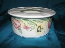 CANARI by Villeroy & Boch Warmer Stand for Teapot Large Tulip Floral Butterfly