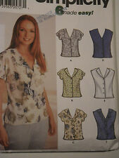 Blouses Sewing Pattern Simplicity # 7116 Size 6-8-10-12 Uncut Complete