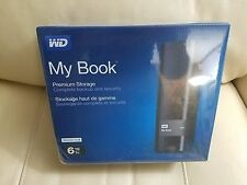 WD Western Digital 6TB MY BOOK External Hard Drive 3.0 USB PREMIUM STORAGE Black