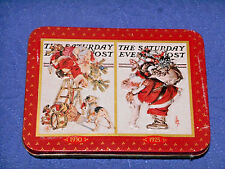 The Saturday Evening Post 2 Decks Playing Cards New in Tin Santa Christmas Theme