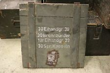 WW2 German Eihandgr.39 Box Cover Top Egg Wehrmacht Wooden Eastern Front