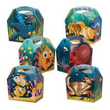 12 Under The Sea Ocean Fish Meal Boxes ~ Birthday Party Food Bag ~ Picnic Box
