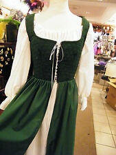 renaissance handmade over dress & chemise many sizes and colors theater quaility