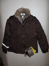 veste blouson ski poivre blanc chocolat neuve avec étiquettes taille 8 ans