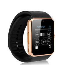 GT08 SIM Card GSM GPRS Smart Bluetooth Watch for IOS & Android Cellphone Golden