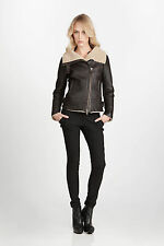 $1350 NWT Mackage Revia Shearling Sheep Skin Leather Moto Jacket XS