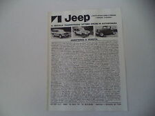 advertising Pubblicità 1981 JEEP CHEROKEE CHIEF/GOLDEN EAGLE