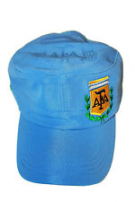 ARGENTINA BLUE AFA LOGO FIFA SOCCER WORLD CUP MILITARY HAT CAP .. NEW