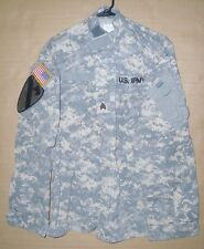 Army Combat Uniform Camo Coat Medium-Regular NATO Shirt / Jacket w/ Patches
