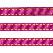 """5 YDS 3/8"""" STITCHED SADDLE STITCH GROSGRAIN RIBBON 4 HAIRBOW U CHOOSE 26 COLORS"""