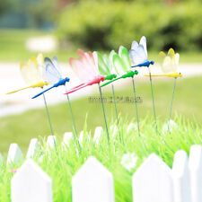 3pcs dragonfly Stakes Art Outdoor Garden Yard Decor Free shipping The grass 8cm