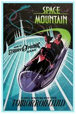 "VINTAGE DISNEY POSTER -TOMORROWLAND SPACE MOUNTAIN STARRY-O-PHONIC 8.5"" x 11"""