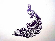 vinyl peacock 7 X 8 in decal for your car,home 12 colors available