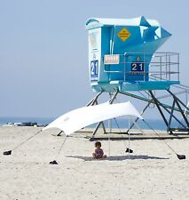Neso Beach Tent with Sand Anchor, Portable Canopy for Shade - White - Used