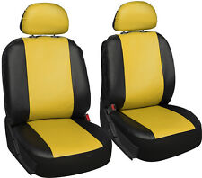 Faux Leather Black Yellow Seat Cover for Jeep Wrangler w/Detachable Head Rests