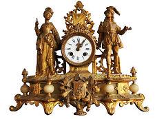 Pendule régule doré et onyx époque XIXème aux personnages