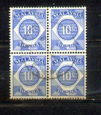 Malaya Malaysia 1966 Postage Due 10c Block 4
