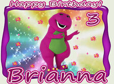 Barney Girl Birthday Party t Shirt Iron On Transfer Personalized Decal