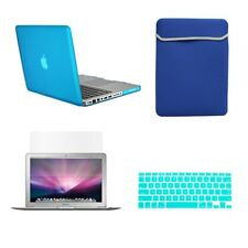 "4 in1 Rubberized  AQUA Case for Macbook PRO 15""+Key Cover+LCD Screen+Sleeve Bag"