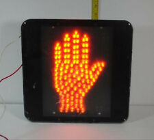 Hand - Orange LED Stop Traffic Light  Man Cave Estate Oddity Steampunk Christmas