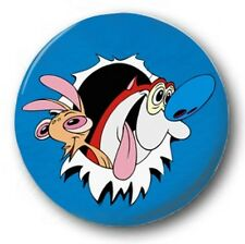 "Ren and Stimpy  25mm 1"" Button Badge - Kids Retro TV Nostalgia 90's Nostalgia"