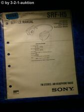 Sony Service Manual SRF H5 PLL Synthesized Radio  (#5254)
