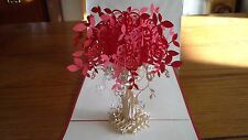 3D Handmade Pop Up Greeting cards - Luxury Colourful Flowers