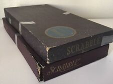 Vintage 1953 Scrabble Board Game Selchow & Righter Original Tiles Lot Of 2