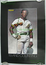 Vintage Mizuno Rickey Henderson Oakland A's Poster 119 & Counting New OLD Stock!